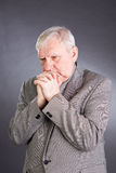 Portrait emotional elderly men royalty free stock photo