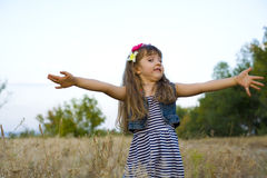 Portrait of the emotional four-year-old girl Stock Images