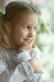 Portrait of emotional girl Royalty Free Stock Images