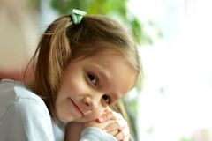 Portrait of emotional girl Stock Images