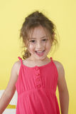Portrait of emotional little girl Stock Photos