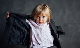 Portrait of emotional little girl Royalty Free Stock Image