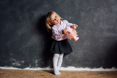 Portrait of emotional little girl Royalty Free Stock Photos