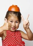 Portrait of emotional little girl Royalty Free Stock Photography