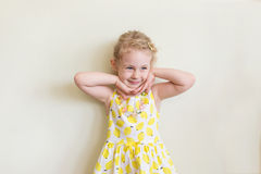 Portrait of emotional little girl Royalty Free Stock Images
