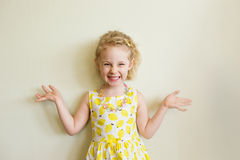 Portrait of emotional little girl Stock Image