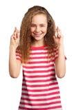 Portrait of emotionally girl Royalty Free Stock Photos