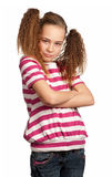 Portrait of emotionally girl Royalty Free Stock Image