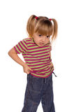 Portrait of emotionally kid Royalty Free Stock Photo