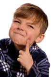 Portrait of emotionally kid Stock Image