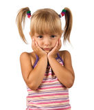Portrait of emotionally kid Stock Photos