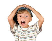 Portrait of emotionally kid Royalty Free Stock Image