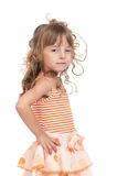 Portrait of emotionally kid Stock Images