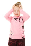 Portrait of emotionally kid. Royalty Free Stock Image