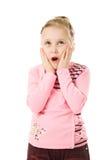 Portrait of emotionally kid. Stock Photo