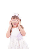 Portrait of emotionally kid Royalty Free Stock Images