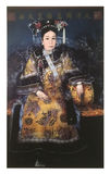 Portrait of Empress Cixi of Qing Dynasty, China. Oil painting of portrait of Empress Cixi 1835-1908 of China`s Qing Dynasty. Photo take at Beijing Capital Museum royalty free stock images