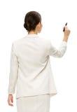 Portrait en buste de l'écriture de femme d'affaires Photographie stock libre de droits