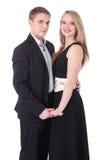 Portrait en buste des couples adolescents dans l'isolat formel de vêtements Images libres de droits