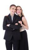 Portrait en buste des couples adolescents dans l'isolat formel de vêtements Photos stock