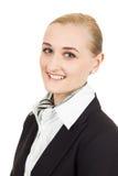 Portrait en gros plan d'hôtesse de l'air Photographie stock