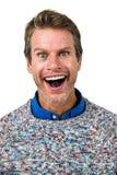 Portrait en gros plan d'homme choqué Photo stock
