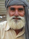 Portrait en gros plan de mendiant estropié Photographie stock