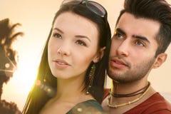 Portrait en gros plan des couples affectueux Images libres de droits