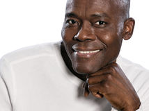Portrait en gros plan du sourire de l'homme Photographie stock libre de droits