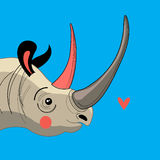 Portrait enamored rhino Royalty Free Stock Photo