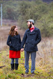 Portrait engagé heureux de couples photos stock