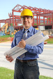 Portrait of engineer at contruction site Royalty Free Stock Image