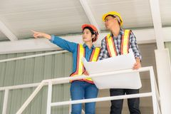 Portrait of engineer inspection and construction teamwork, Indoor concept. Portrait of engineer inspection and construction teamwork., Indoor concept royalty free stock image