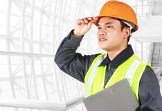 Portrait of an engineer looking at something Stock Photography