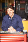 Portrait Of Engineer Standing In Factory Stock Photography