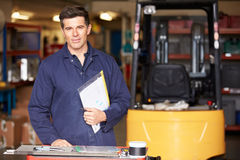 Portrait Of Engineer Standing In Factory Royalty Free Stock Image