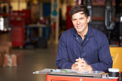 Portrait Of Engineer Standing In Factory Stock Photos