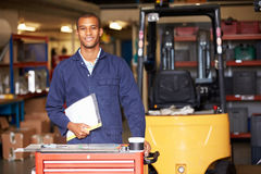 Portrait Of Engineer Standing In Factory Royalty Free Stock Images