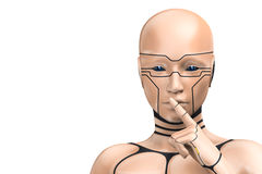 Portrait of an enigmatic cyborg woman Stock Photography