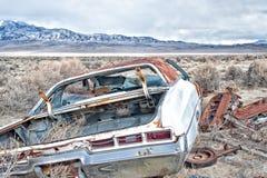Portrait environnemental automobile abandonné Photos stock