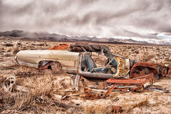 Portrait environnemental automobile abandonné Images stock