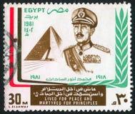 Portrait et pyramide image libre de droits