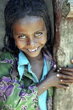Portrait of Ethiopian girl with radiant face. ETHIOPIA, village Chancho Gaba Robi, A small town in Mulo-ena Sululta woreda (district) of northern Shewa: closeup Stock Images