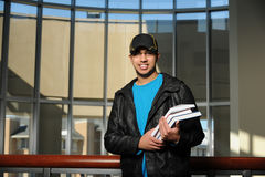 Portrait of Ethnic Student Inside College Campus Royalty Free Stock Image