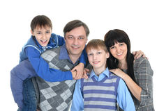 Portrait of the European family Stock Photo