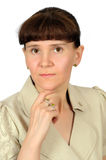 Portrait of a European middle-aged women Stock Photography