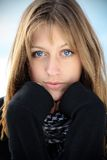 Portrait of a beautiful girl. With blue eyes Royalty Free Stock Photos