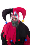Portrait of a evil clown,  on white Stock Photos