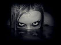 Portrait of evil mermaid Stock Image