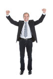 Portrait Of Excited Businessman Stock Photo
